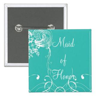 Maid of Honor 15 Cm Square Badge