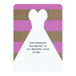 Maid of Honor Poem in Orchid 11 Cm X 16 Cm Invitation Card
