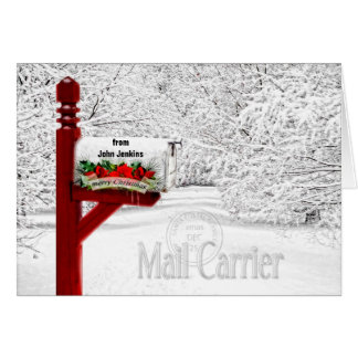 Mail Carrier or Postal - Christmas Mailbox Greeting Card