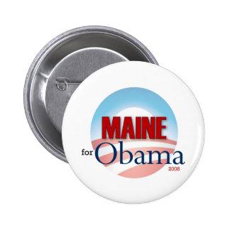 Maine for Obama 6 Cm Round Badge