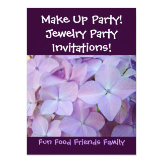Make Up Party! Invitations Jewelry Party! Flowers