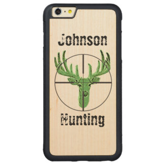 Make Your Own Deer Hunting Logo Carved® Maple iPhone 6 Plus Bumper Case