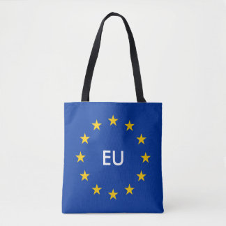 Make your own European Union EU flag tote bags Tote Bag