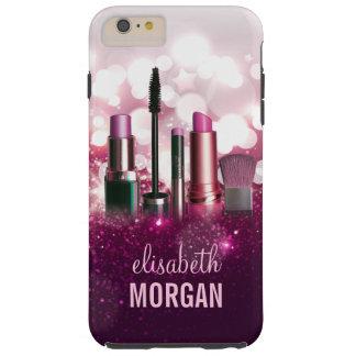Makeup Artist Cosmetician - Pink Beauty Glitter Tough iPhone 6 Plus Case