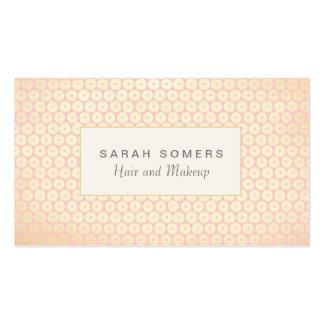 Makeup Artist Elegant Light Pink Pattern Pack Of Standard Business Cards