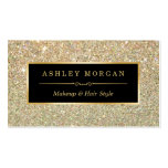 Makeup Artist Hair Stylist Funky Gold Glitter Pack Of Standard Business Cards
