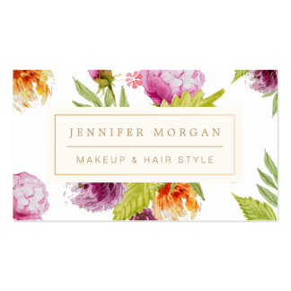 Makeup Hair Style Beauty Salon Feminine Floral Pack Of Standard Business Cards