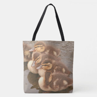 Mallard Ducklings Baby Duck Birds Wildlife Animals Tote Bag