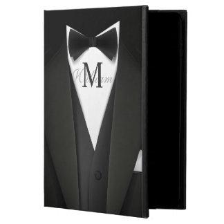 Man in Black Tuxedo Suit - Stylish Manly Monogram