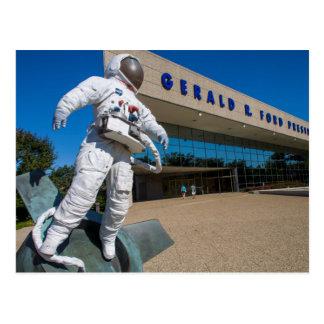 Man In Space Sculpture Postcard
