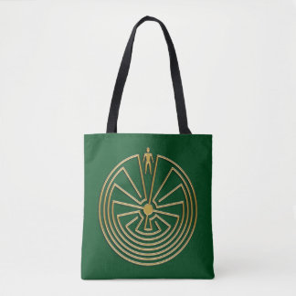 MAN IN THE MAZE gold + your background Tote Bag