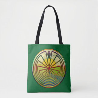 MAN IN THE MAZE landscape + your background Tote Bag