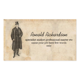 man picture vintage business card