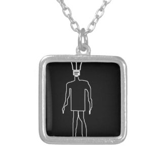 Man with an Idea Square Pendant Necklace