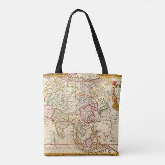 Map L'Asie Dressee Tote Bag