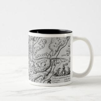 Map of Ancient Rome Two-Tone Mug