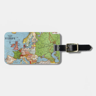 Map of Europe Tags For Bags