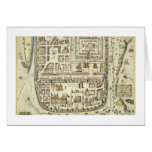 Map of Jerusalem and the surrounding area, from 'C Greeting Card