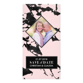 Marbled Save the Date Customised Photo Card