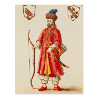 Marco Polo  dressed in Tartar costume Postcard