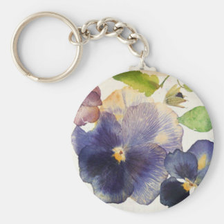 Maria Flowers Basic Button Keychain
