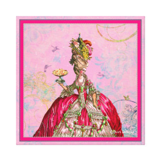 Marie Antoinette, Cakes and Peacock Gallery Wrap Canvas