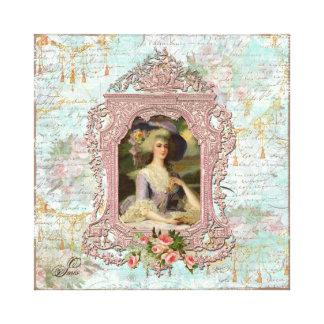 Marie Antoinette Framed in Pink Canvas Prints