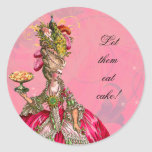 Marie Antoinette & Peacock French Pastry Stickers