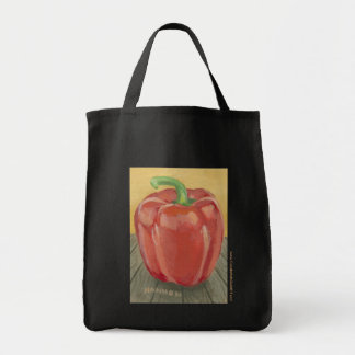 Mark Hannon Red Pepper Grocery Tote Bag