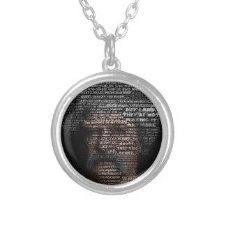 Mark Twain (TypeFace) Round Pendant Necklace