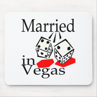 Married In Vegas (Dice) Mouse Pad