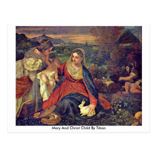 Mary And Christ Child By Titian Postcard
