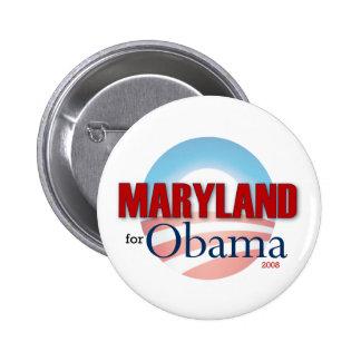 Maryland for Obama 6 Cm Round Badge
