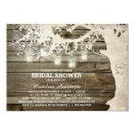 Mason Jar String Light Bridal Shower Barn Wood 13 Cm X 18 Cm Invitation Card