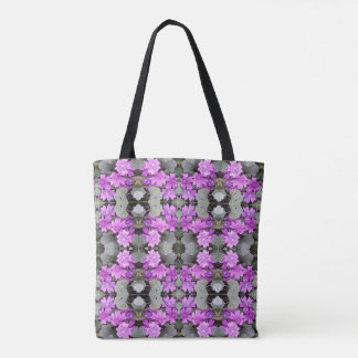Mauve Ground Flower 706B Fractal A small Tote Bag