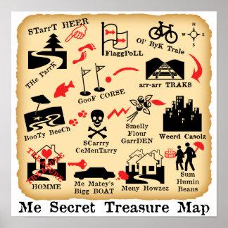 ME SECRET TREASURE MAP POSTER