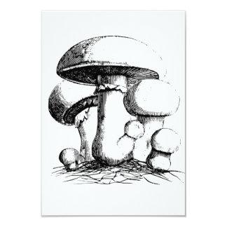 Meadow Mushrooms Invitations