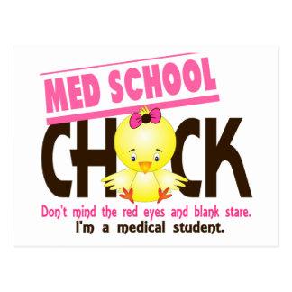 Med School Chick 2 Postcard