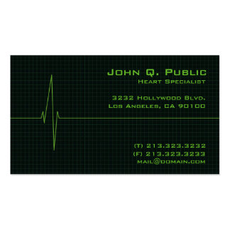 Medical Heart Monitor Pack Of Standard Business Cards