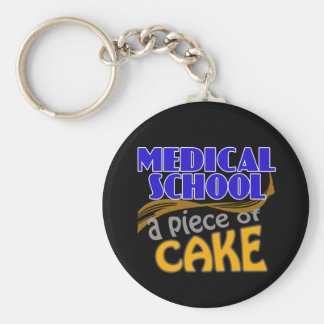 Medical School - Piece of Cake Basic Round Button Key Ring