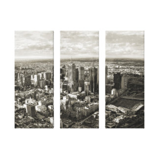 Melbourne City Gallery Wrapped Canvas