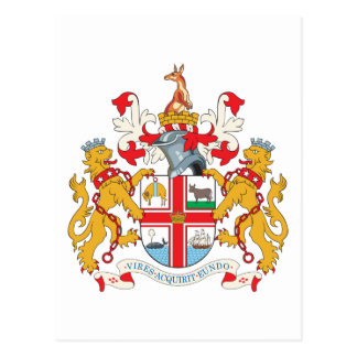 Melbourne Coat Of Arms Postcard