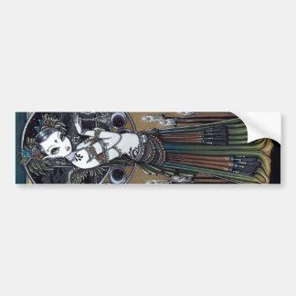 """Melita"" Goth Tribal Fusion Dancer Angel Sticker Bumper Sticker"