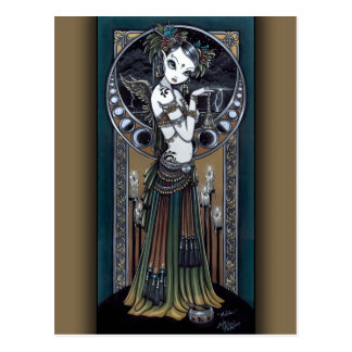 """Melita"" Goth Tribal Fusion Storm Angel Postcard"
