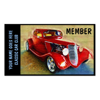 Member Card for  Classic Car Clubs Pack Of Standard Business Cards