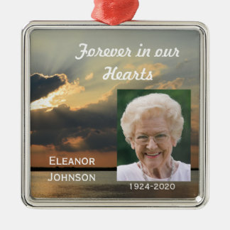 Memorial Christmas Ornaments Sunset with Photo