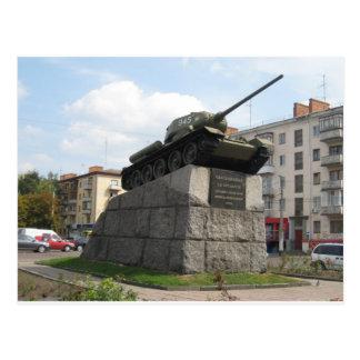 Memorial Tank Monument Postcard