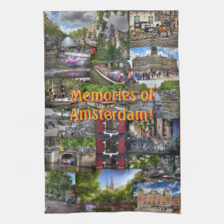 Memories of Amsterdam Photo Collage Towels