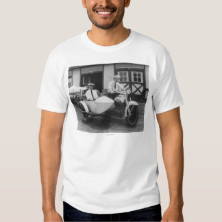 Men on Harley Davidson Motorcycle with Sidecar T Shirts