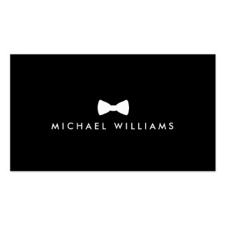 Men's Classic Bow Tie Logo - White and Black Pack Of Standard Business Cards